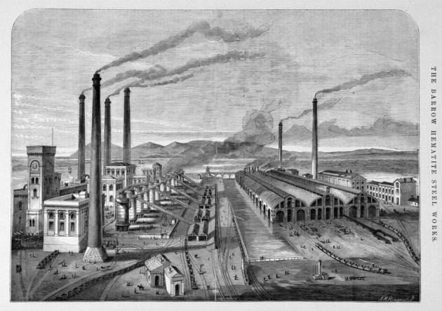 Barrow Hematite and Steel Works (1870)